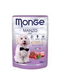 <b>Паучи</b> для собак <b>Monge Dog Grill</b> говядина, упаковка-24шт. купить ...