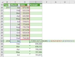 How To Forecast In Excel Excel Forecast Linear Function My Online Training Hub