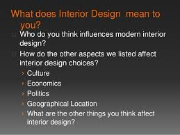 What does Interior Design mean .