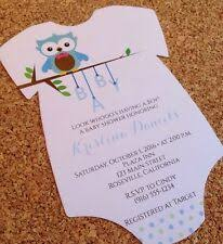 Onesie Baby Shower Invitations Onesie Baby Shower Invitations Ebay