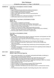 Resume And Cover Letter Electrical Engineering Internship Resume