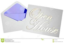 Invitation To Open House Open House Home For Sale Invitation Party Event Stock Illustration