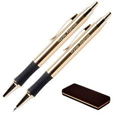gp 1208 monroe 18krt gold plated pen and pencil set