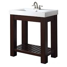 31 Inch Single Bathroom Vanity with Open Shelf UVACLEXIVS30LE31