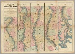 Lower Mississippi River Charts Lloyds Map Of The Lower Mississippi River From St Louis To