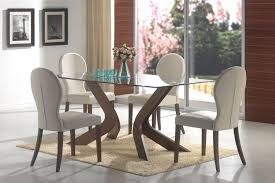 outstanding dining room decoration with round glass top dining table sets contempo small modern dining