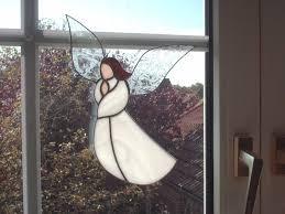 Tiff Fensterbild Engel Weihnachten Handarbeit Edel