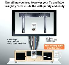 hide tv cords on wall how to hide cables without cutting wall professional wire hiding kit for wall mounted designed how to hide cables without cutting wall