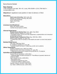 Job Resume 33 Lpn Objective For A New Nurse Nursing Student Temp