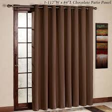 Amazon.com: RHF Thermal Insulated Blackout Patio door Curtain Panel, Sliding  door curtains, Wide curtains: 100W by 84L Inches-Chocolate: Home & Kitchen