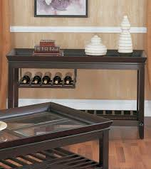 Brilliant Sofa Table With Wine Storage Decorative He Medium In Models Ideas