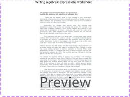 writing algebraic expressions worksheet number sentences that contain equations links to the variable worksheets worksh
