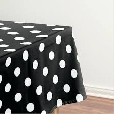 black and white polka dot tablecloth dots round plastic tablecloths