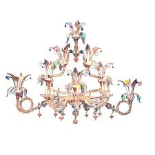 whether transpa or colored many venetian glass chandeliers have arms covered with blown glass this requires tedious attention and many hours to craft