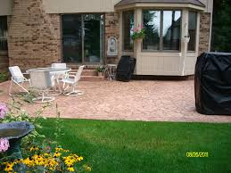 stamped concrete patio estimate call