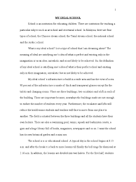 essay on my first day at school high school narrative essay  my ideal school teachers cognition
