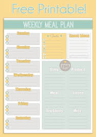 Meal Planner Template Planning Spreadsheet Weekly With Snacks Pdf
