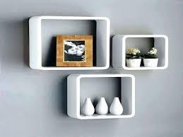 wall storage shelves wall box shelves floating new set of 3 white black square floating cube