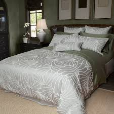 cascade features an easy care cotton polyester blend jacquard same as providence in grey with a raised relief outline in white and paired with a