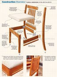 wood dining chair plans dining room chair woodworking counter height