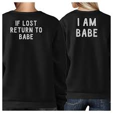 If Lost Return To Babe Funny Couples Matching Sweatshirts Pullover