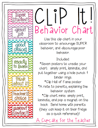 Clip It Behavior Chart