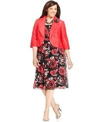 Le Bos Size Chart Details About Le Bos Women Plus Size Dress Jacket Sleeveless Printed Rosette Brooch Size 22w