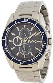 michael kors lansing chronograph blue dial stainless steel mens michael kors lansing chronograph blue dial stainless steel mens watch mk8354 bossy watches