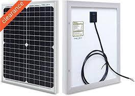 HQST <b>20W 12V</b> Monocrystalline Compact Design <b>Solar Panel</b> High ...