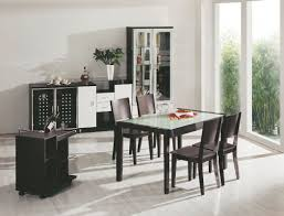 square dining table sets. Dining Room Small Round Table Pedestal Dark Black Polished Leather Tufted Upholstered Chairs White Square Modern Sets Z
