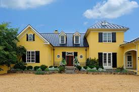 white front door yellow house. Yellow House Shutters Exterior Traditional With Round Window White Trim Stone Wall Front Door N