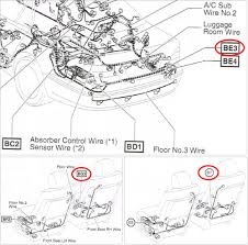 04 ls430 passenger power seat stopped working club lexus forums here are the locations referenced on the wiring diagram be3 bg3 and b7