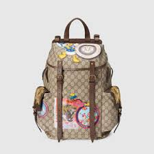 gucci bags for boys. soft gg supreme backpack with appliqués gucci bags for boys