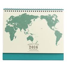 World Map Home Decor 2016 Desk Calendar Vintage World Map Retro Paper Daily Planner