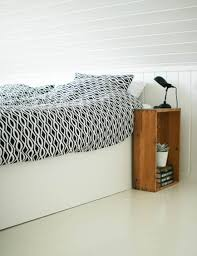 Luckily, there are creative solutions out there for fitting a nightstand  into your small space.