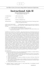 Instructional Aide Sample Resume Instructional Aide Resume For Study shalomhouseus 1