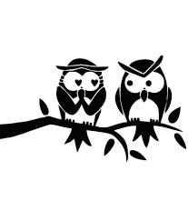 studio briana designer cute pair of owls wall decor decal on premium vinyl