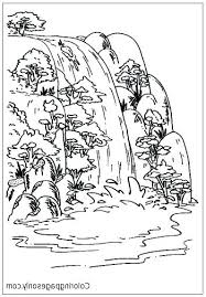 Coloring Waterfall Stvx Waterfall Coloring Page Pages For Adults