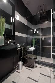 Black and gray striped contemporary bathroom contemporary-bathroom
