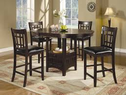 Bar Height Kitchen Table Set Coaster Lavon 5 Piece Counter Table And Chair Set Coaster Fine