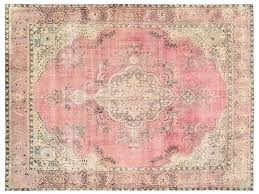 vintage rug x ft by light pink persian rugs old