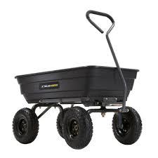gorilla carts 600 lb poly garden dump cart