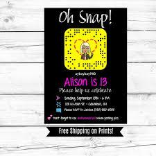 Free 13th Birthday Invitations Snapchat Birthday Invitation 13th Birthday Girls Birthday Boys Birthday Birthday Party Invitation Sweet Sixteen Printable Download