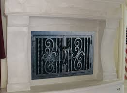 pleasant design iron fireplace cover 18 fireplace door fd042