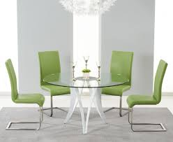 berlin 130cm glass and white high gloss round dining table