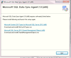 Data Sync Azure Sql Data Sync Agent 2 Wont Install Stack Overflow
