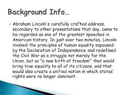 gettysburg address rhetorical analysis workshop ppt video online 3 background info