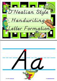Manuscript Letter Formation Chart Handwriting Letter Formation Display D Nealian Manuscript