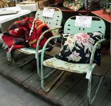 Antique metal outdoor furniture Patio Set Vintage Metal Lawn Chairs The Spruce Where To Find Vintage Garden Furniture