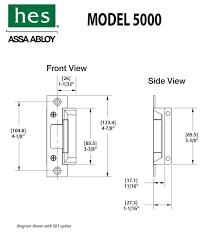hes 5000 wiring diagram Hes 9600 12 24d 630 Wiring Diagram electric strike door hardware genius HES 9600 Cut Sheet